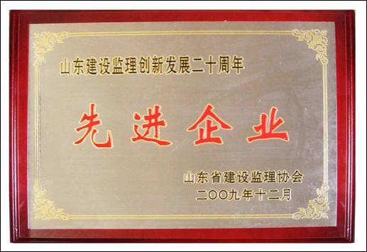 山东省监理创新发展20周年先进监理企业