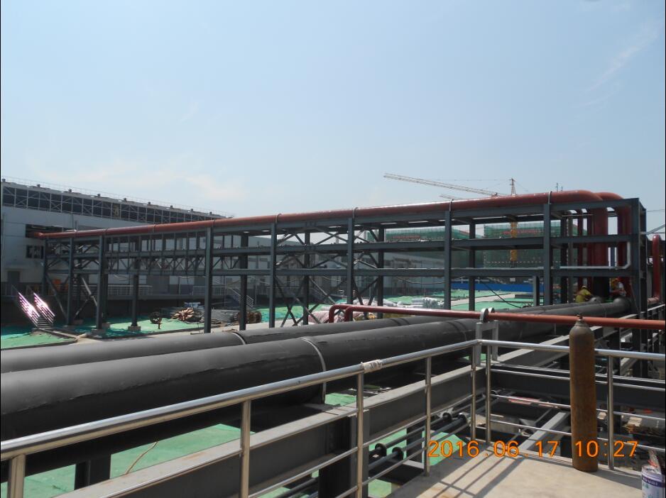 淄博汉能动力站西侧室外管架